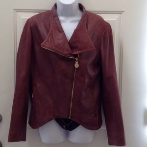 Ellie Tahari Lamb Leather Jacket